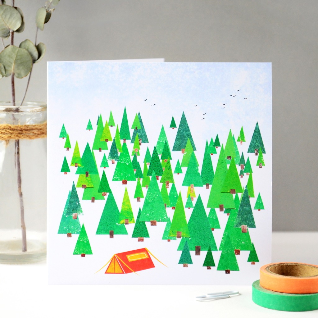 Woodland Camping Greeting Card