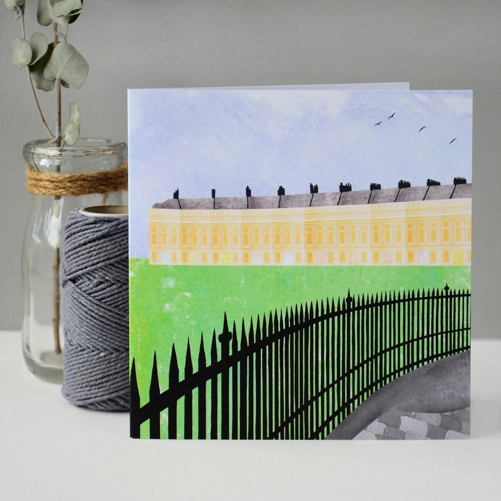 Bath Royal Crescent Greeting Card