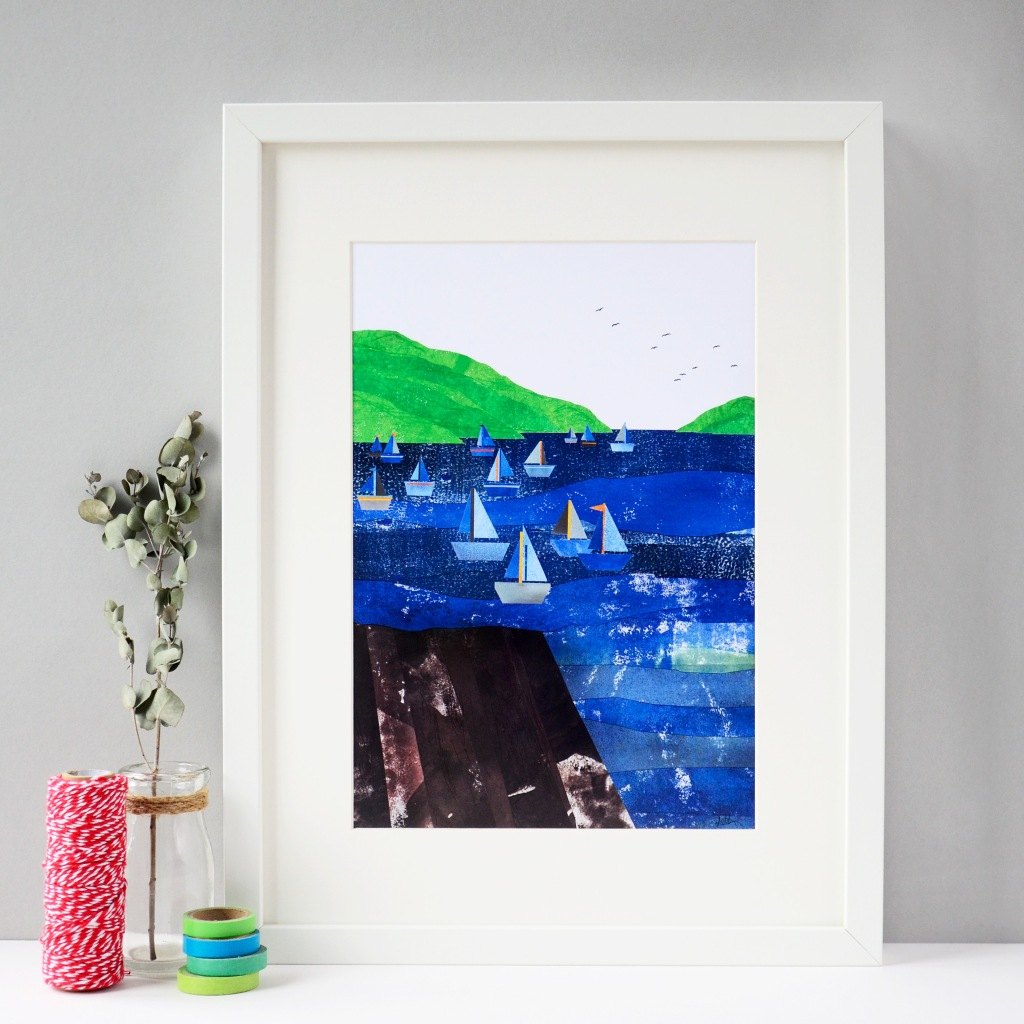 Across to Kingswear, Devon, Art Print