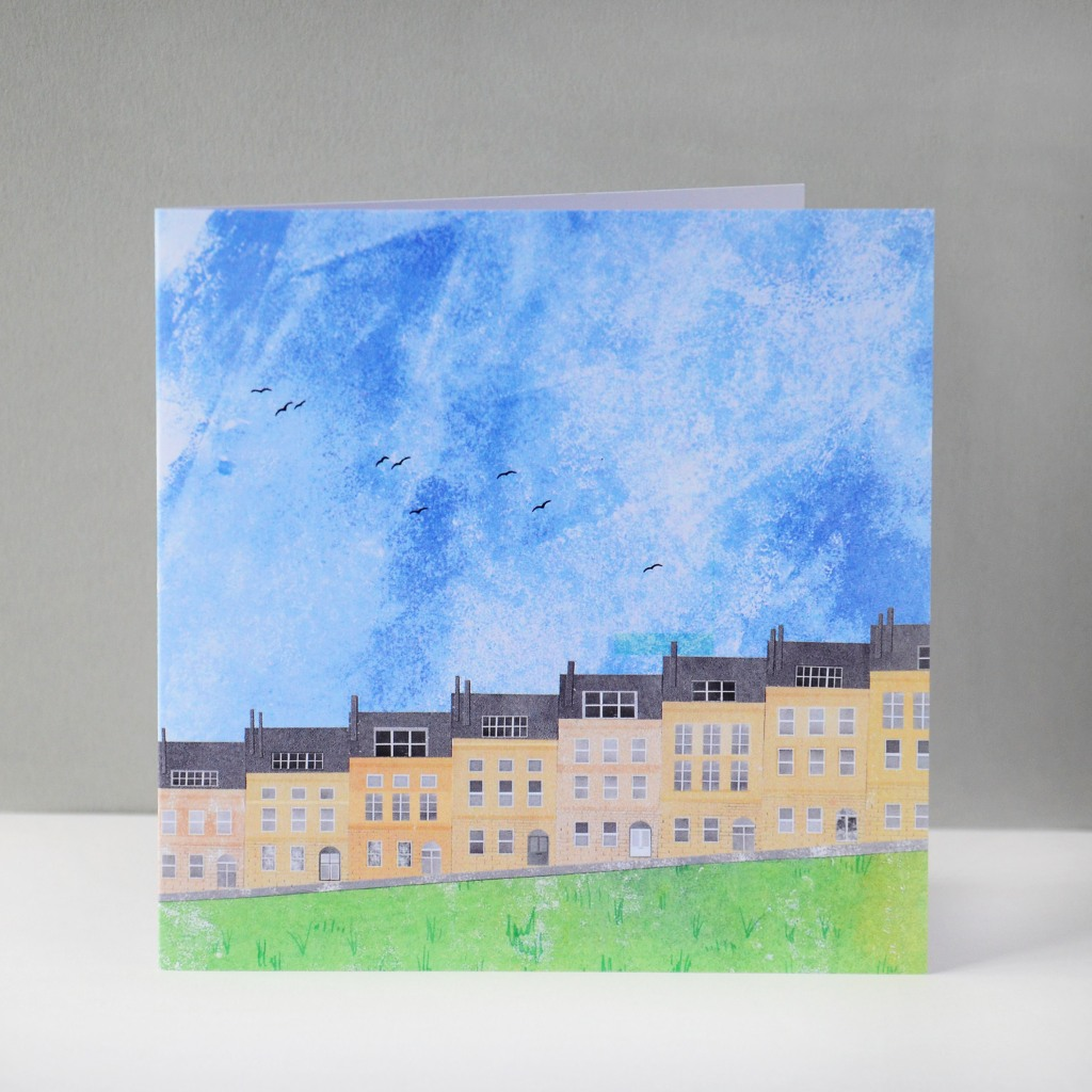 Bath Marlborough Buildings Greeting Card