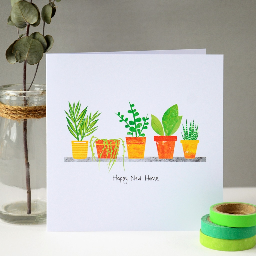 New Home Plants Greeting Card