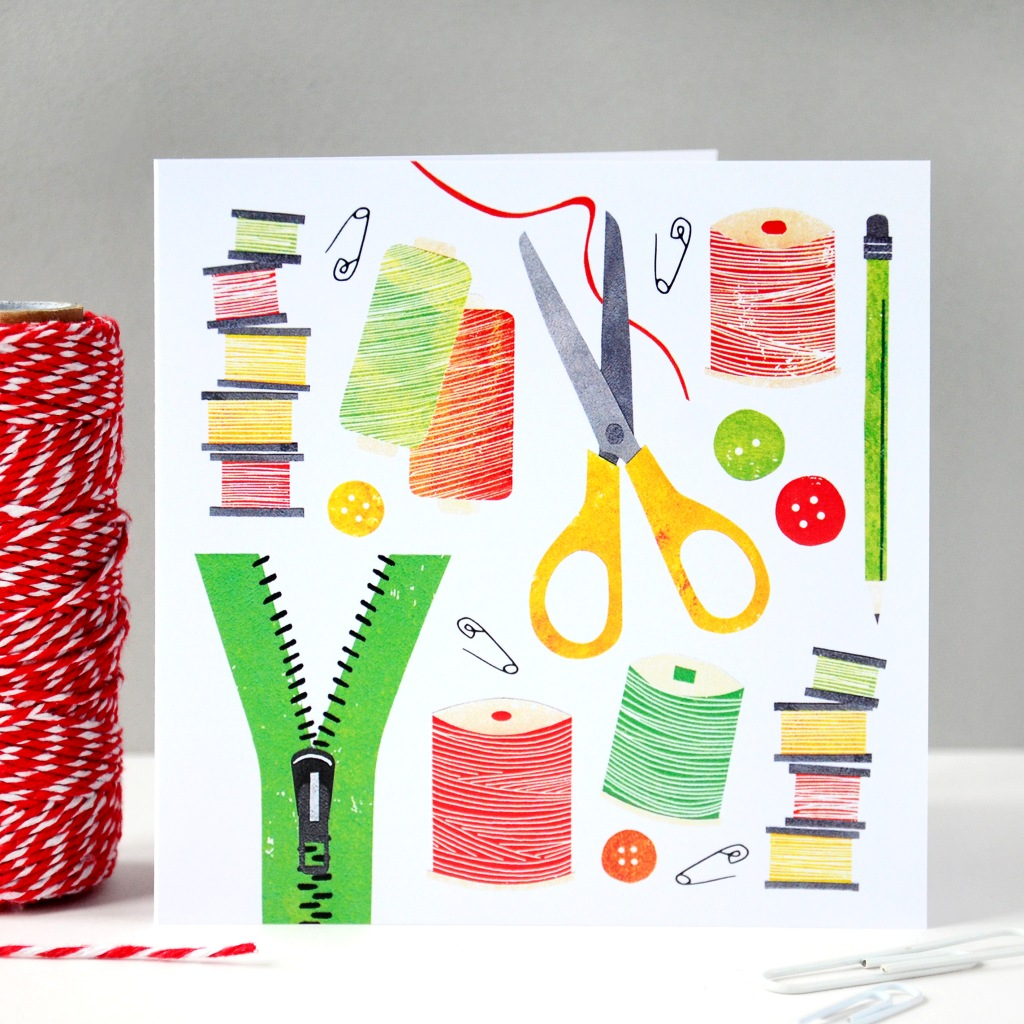 All Things Sewing Greeting Card